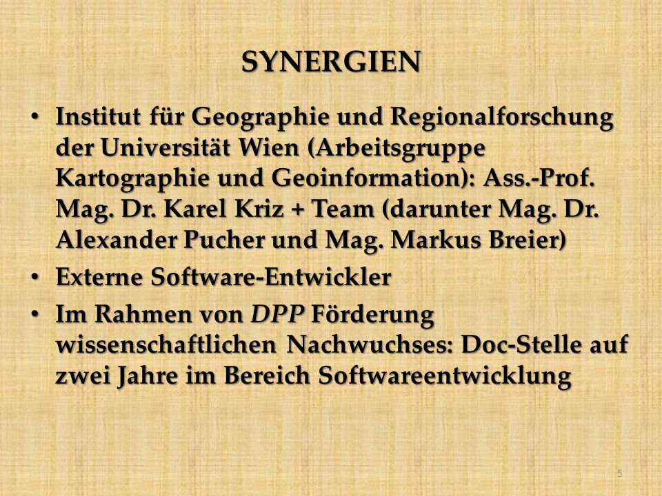 SYNERGIEN