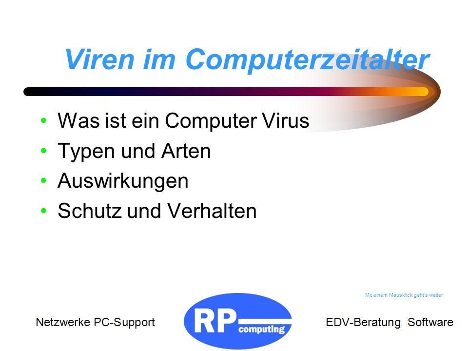Viren im Computerzeitalter