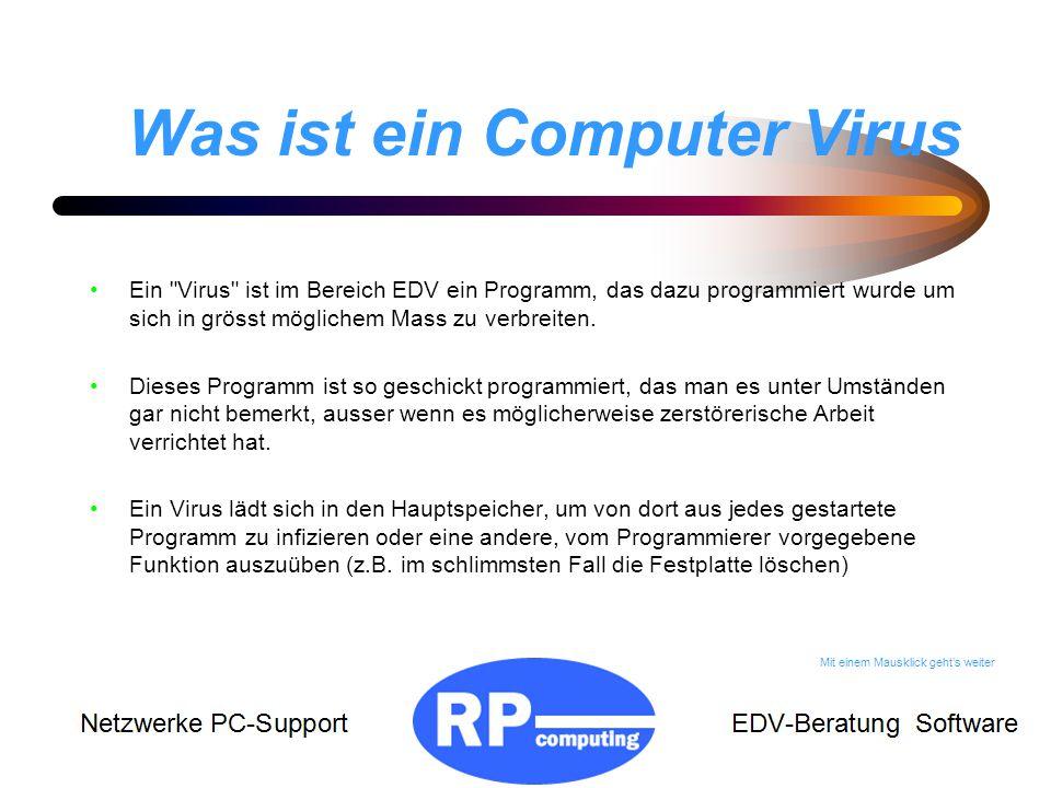 Was ist ein Computer Virus