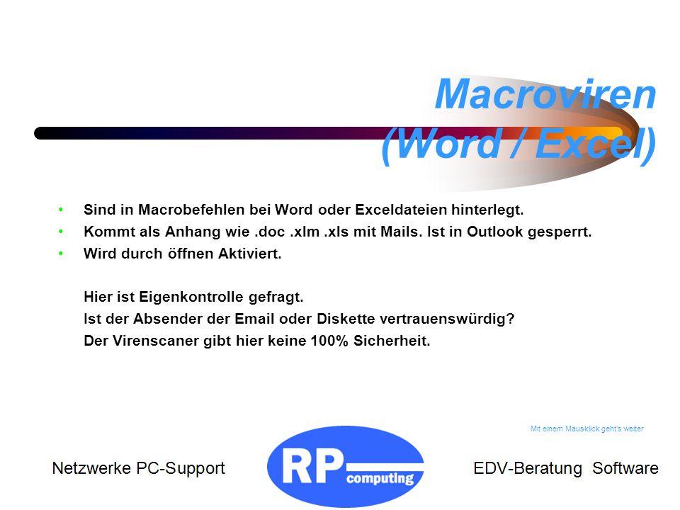 Macroviren (Word / Excel)