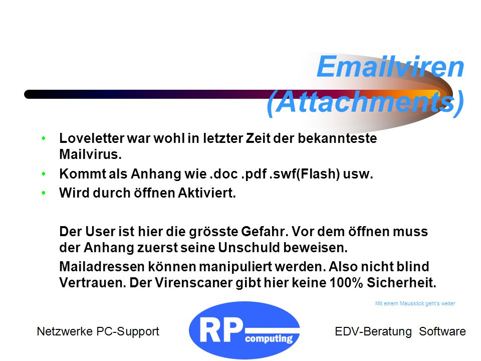 Emailviren (Attachments)