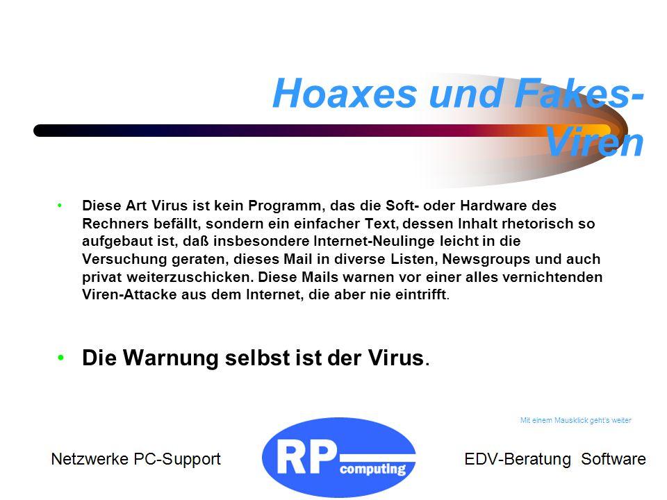 Hoaxes und Fakes-Viren