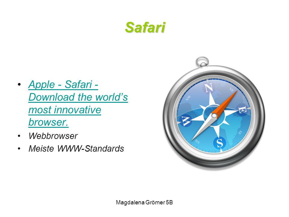 Safari Apple - Safari - Download the world's most innovative browser.