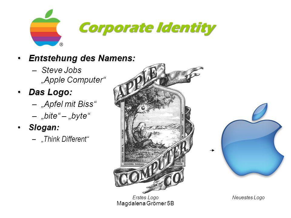 Corporate Identity Entstehung des Namens: Das Logo: