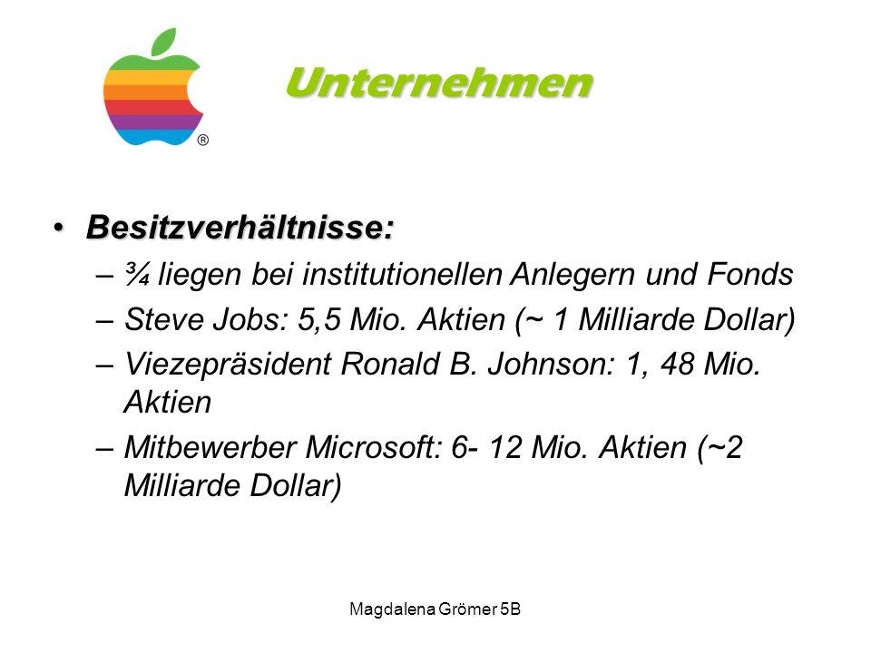 Unternehmen Besitzverhältnisse: