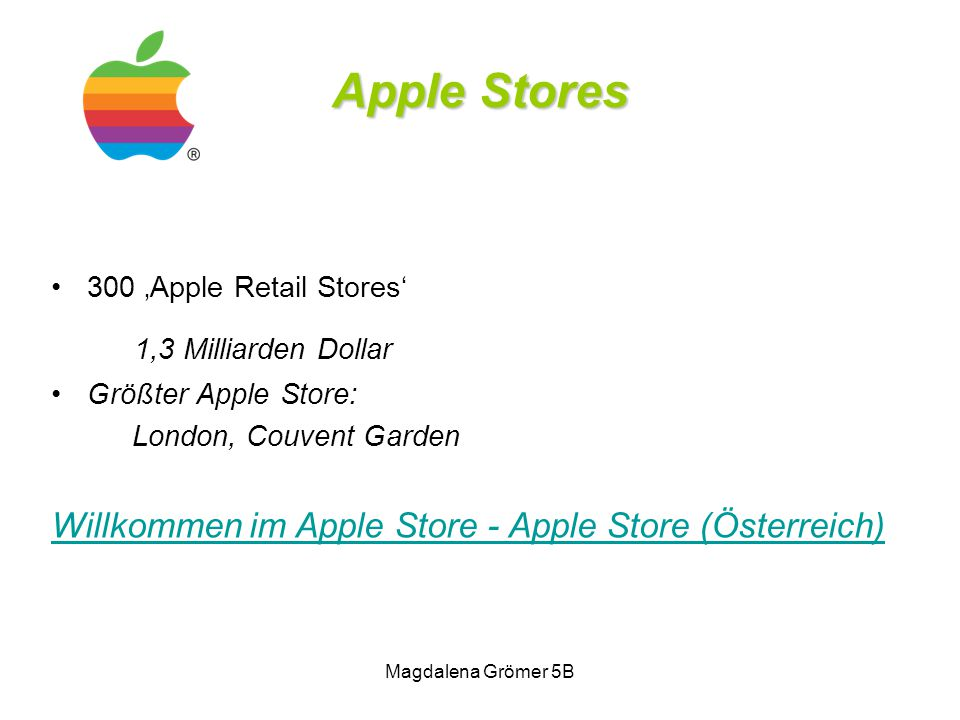 Apple Stores 1,3 Milliarden Dollar