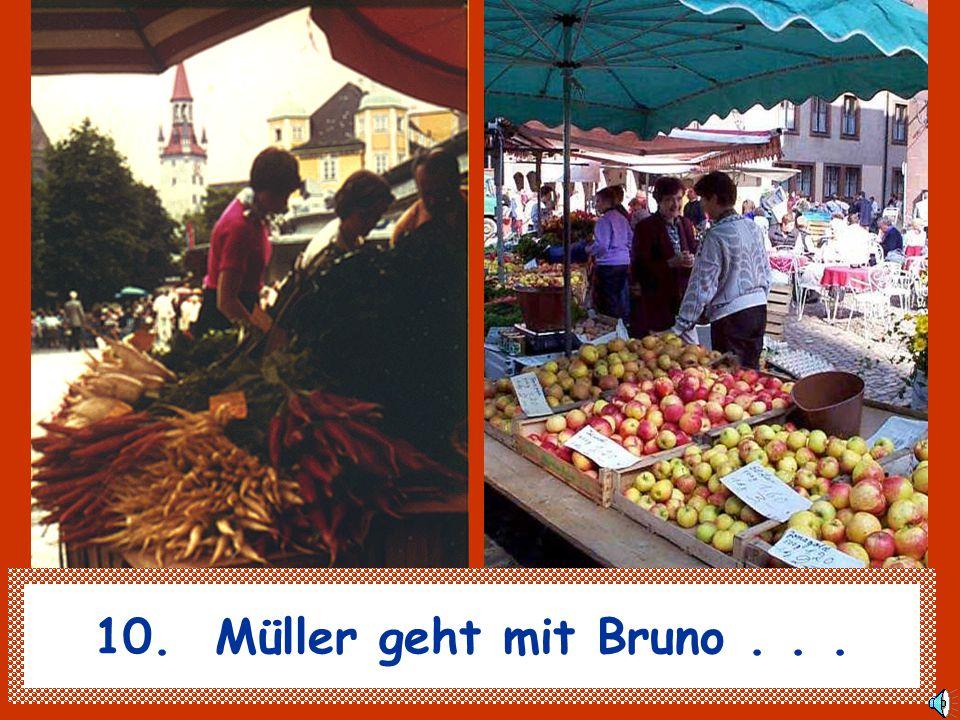 10. Müller geht mit Bruno . . .