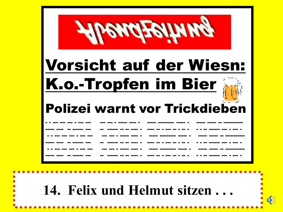 14. Felix und Helmut sitzen . . .