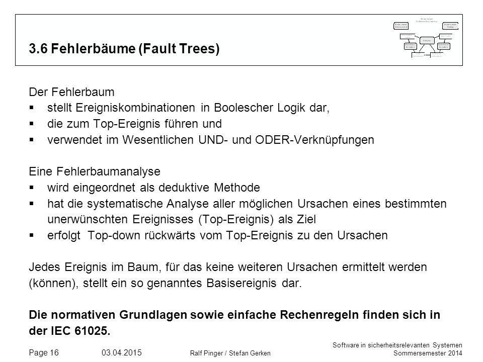 3.6 Fehlerbäume (Fault Trees)