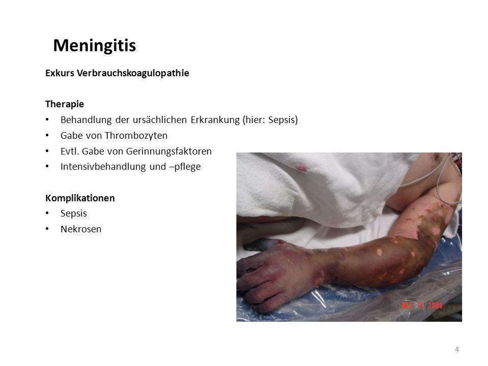 Meningitis Exkurs Verbrauchskoagulopathie Therapie