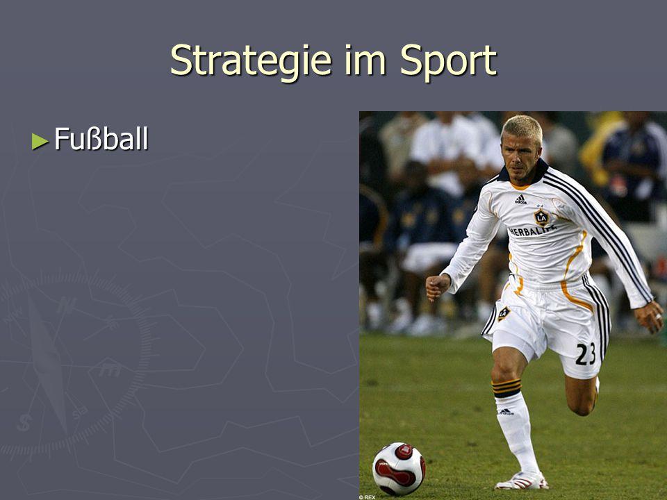Strategie im Sport Fußball