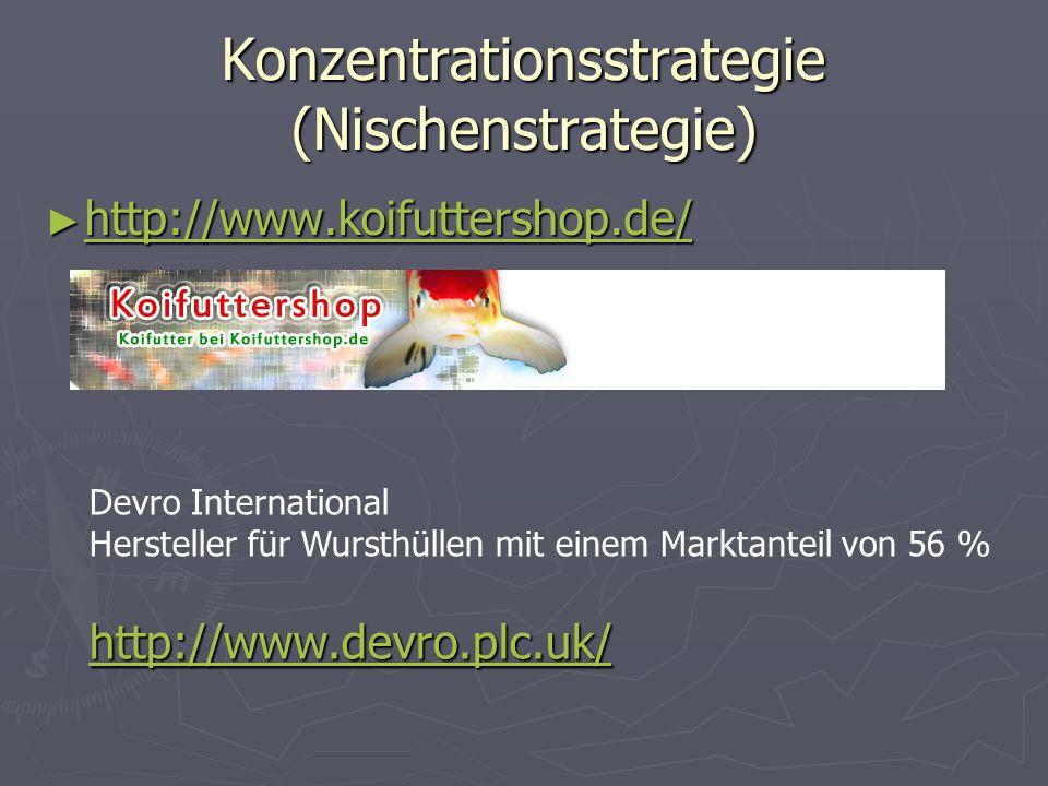 Konzentrationsstrategie (Nischenstrategie)