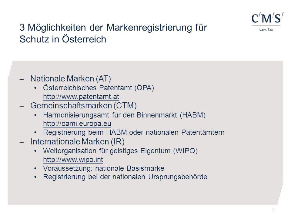 3 Möglichkeiten der Markenregistrierung für Schutz in Österreich