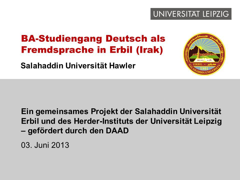 BA-Studiengang Deutsch als Fremdsprache in Erbil (Irak)