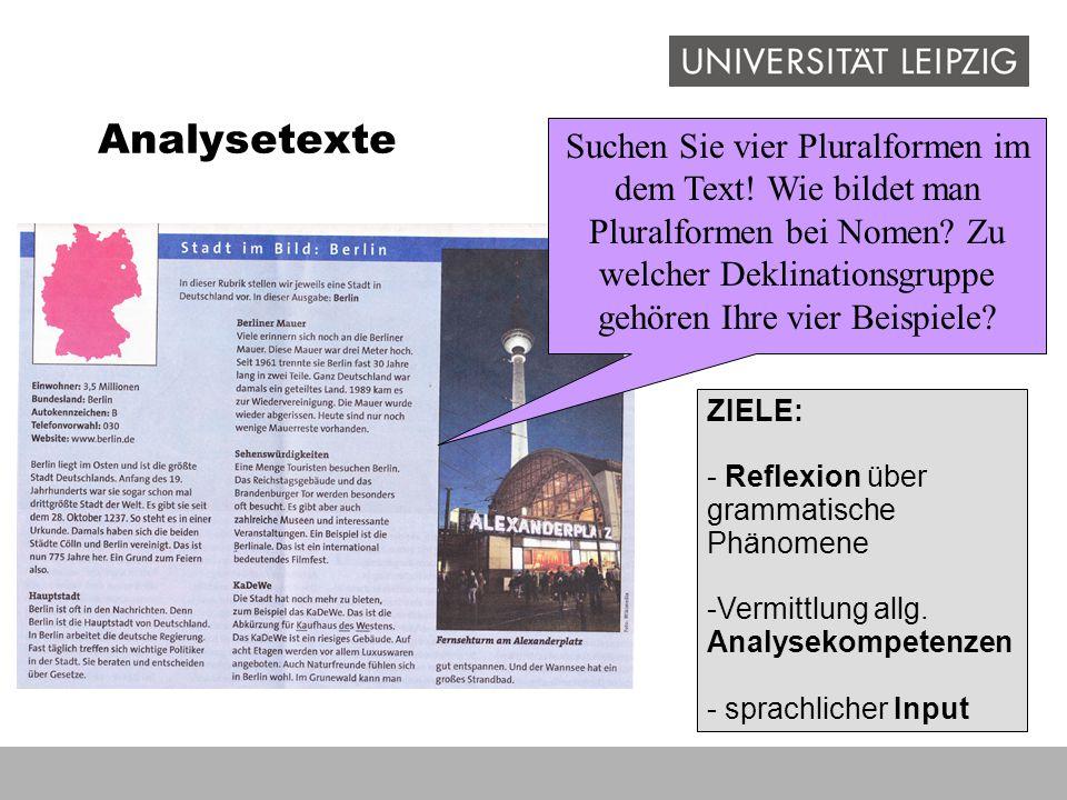 Analysetexte