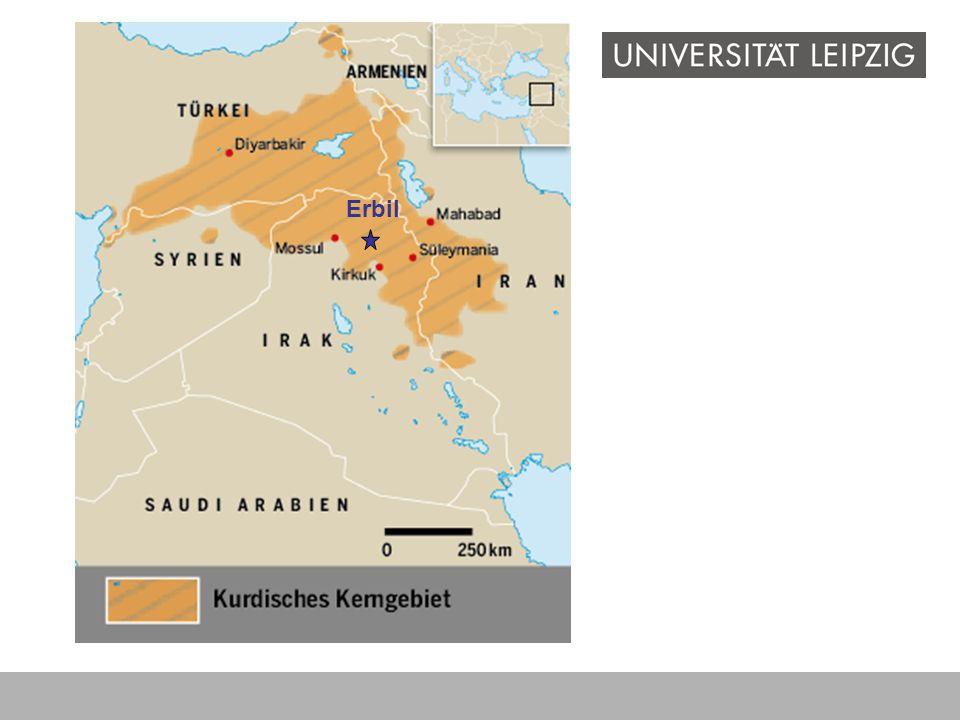 Erbil Wo liegt Erbil Nordirak- Siedlungsgebiet der Kurden