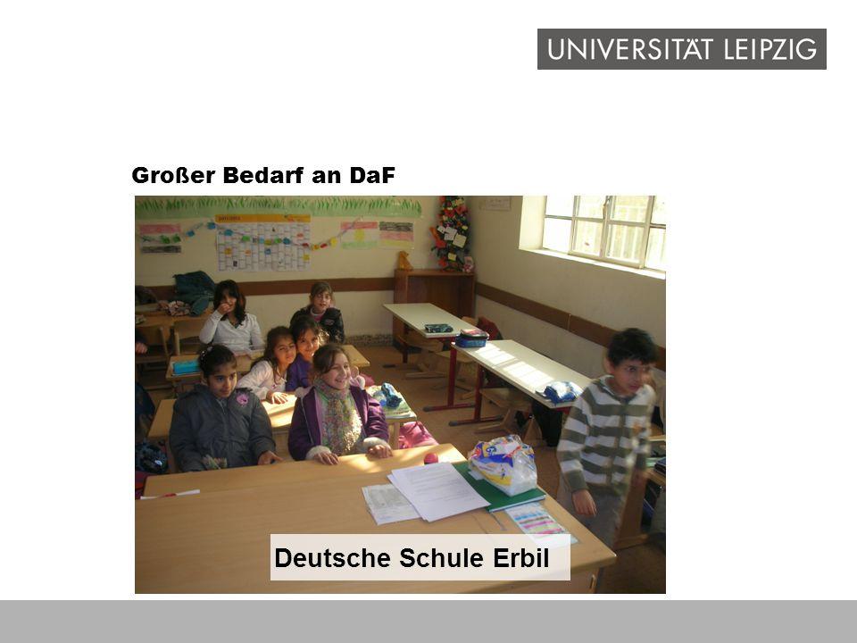 Deutsche Schule Erbil Großer Bedarf an DaF