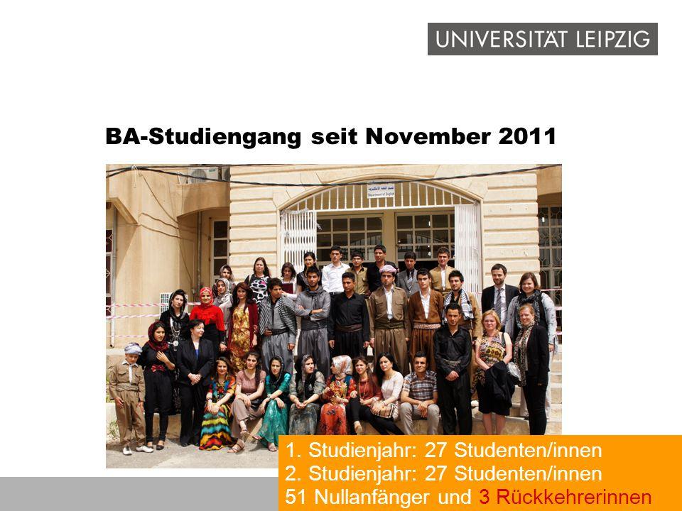 BA-Studiengang seit November 2011