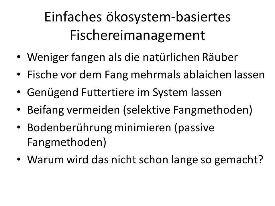 Einfaches ökosystem-basiertes Fischereimanagement