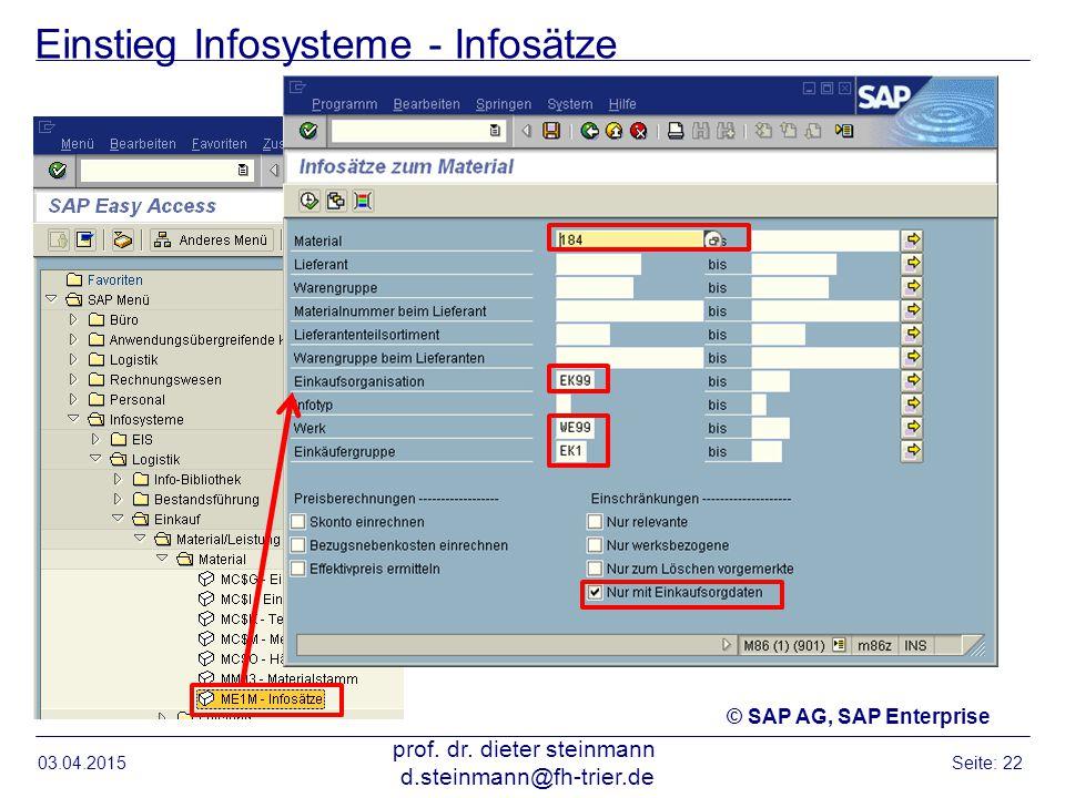 Einstieg Infosysteme - Infosätze