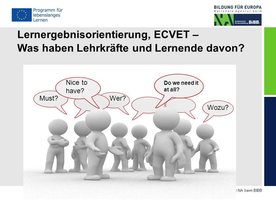 Lernergebnisorientierung, ECVET –