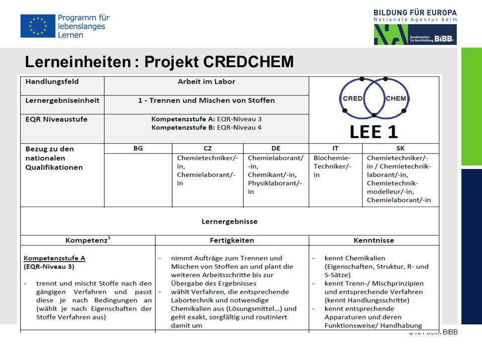 Lerneinheiten : Projekt CREDCHEM