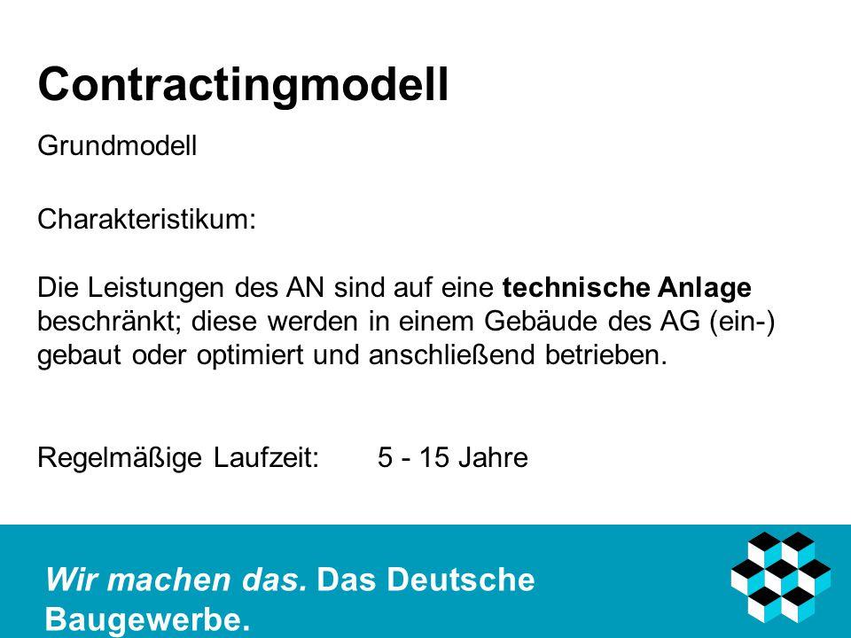 Contractingmodell Grundmodell Charakteristikum:
