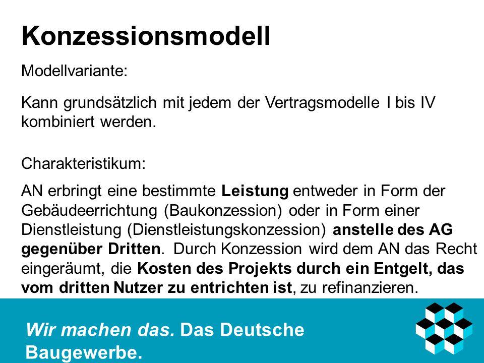 Konzessionsmodell Modellvariante: