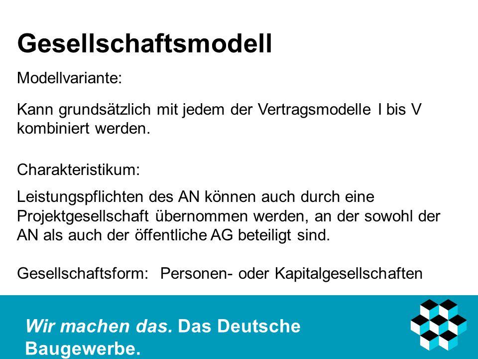 Gesellschaftsmodell Modellvariante: