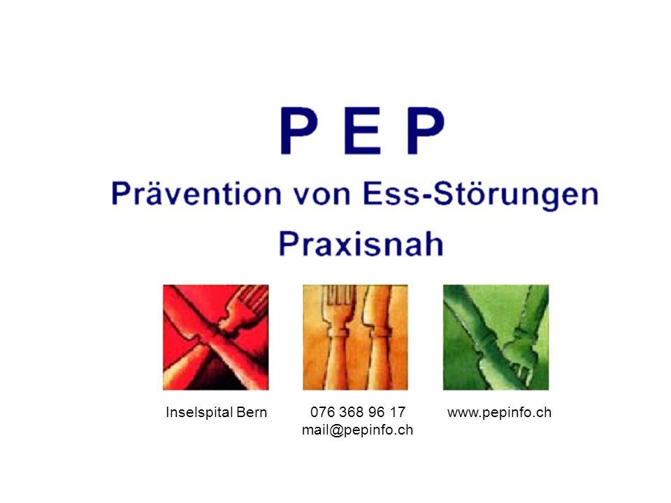 Inselspital Bern 076 368 96 17 mail@pepinfo.ch www.pepinfo.ch