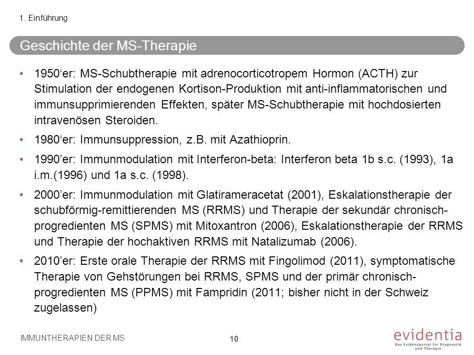 Geschichte der MS-Therapie