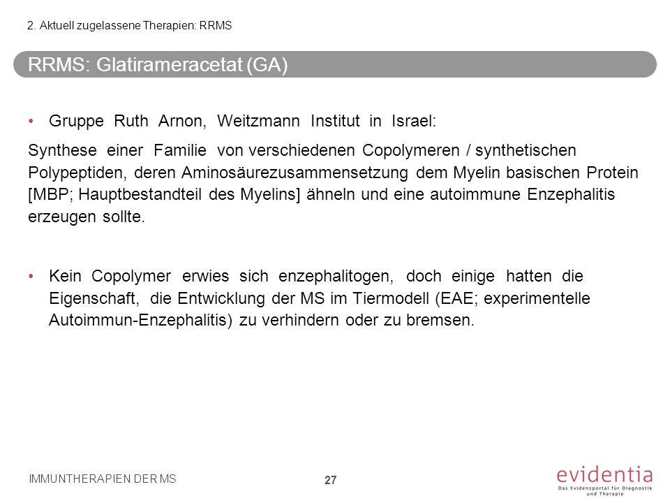 RRMS: Glatirameracetat (GA)