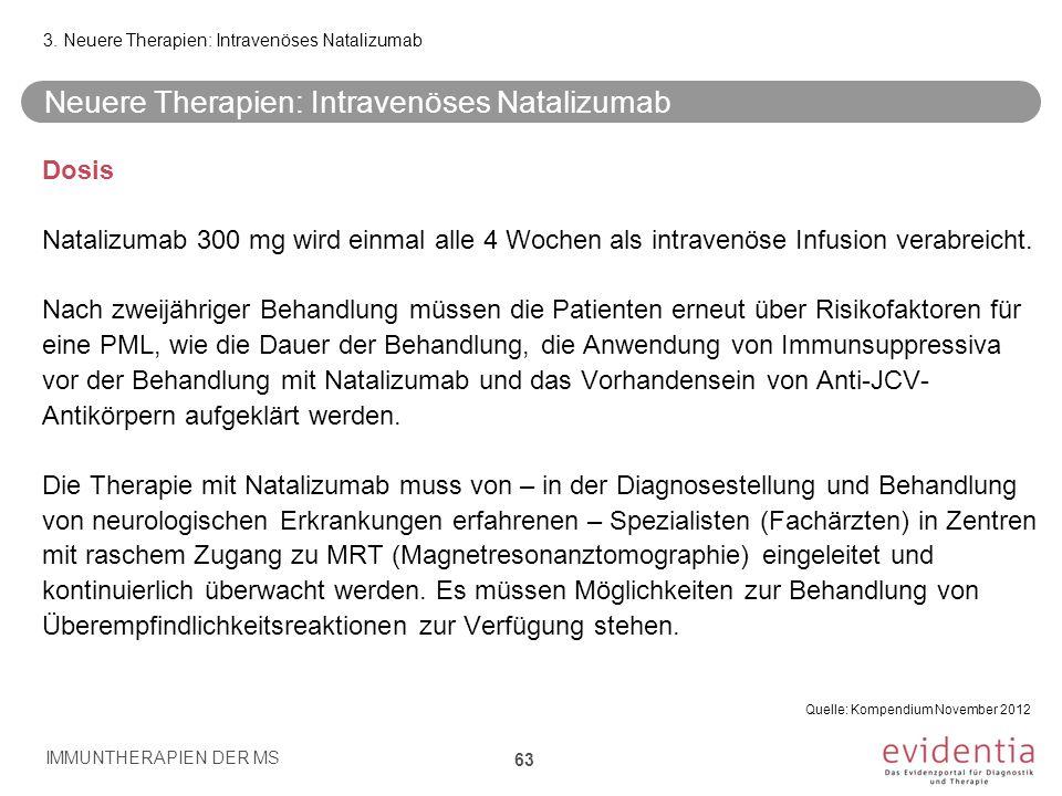 Neuere Therapien: Intravenöses Natalizumab