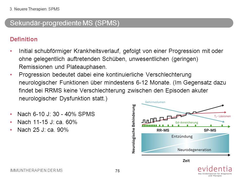 Sekundär-progrediente MS (SPMS)