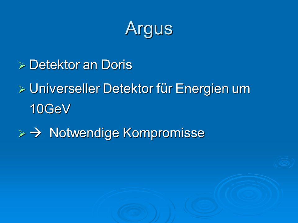 Argus Detektor an Doris Universeller Detektor für Energien um 10GeV