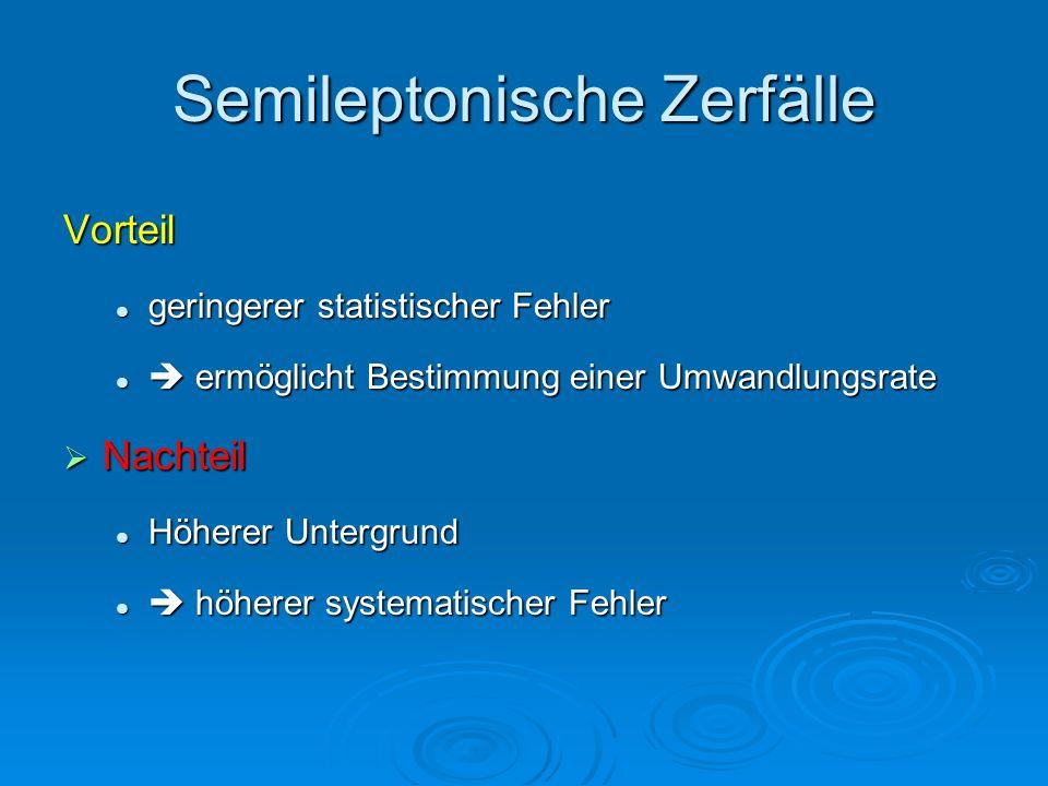Semileptonische Zerfälle