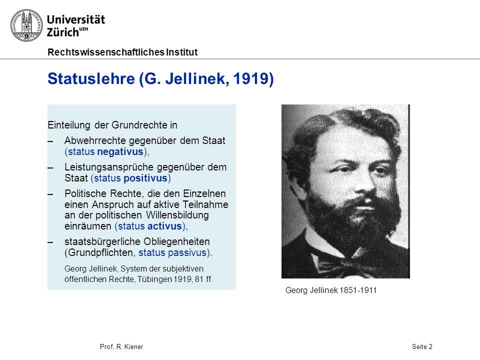 Statuslehre (G. Jellinek, 1919)