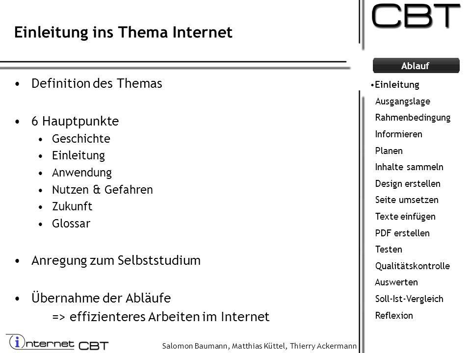 Einleitung ins Thema Internet