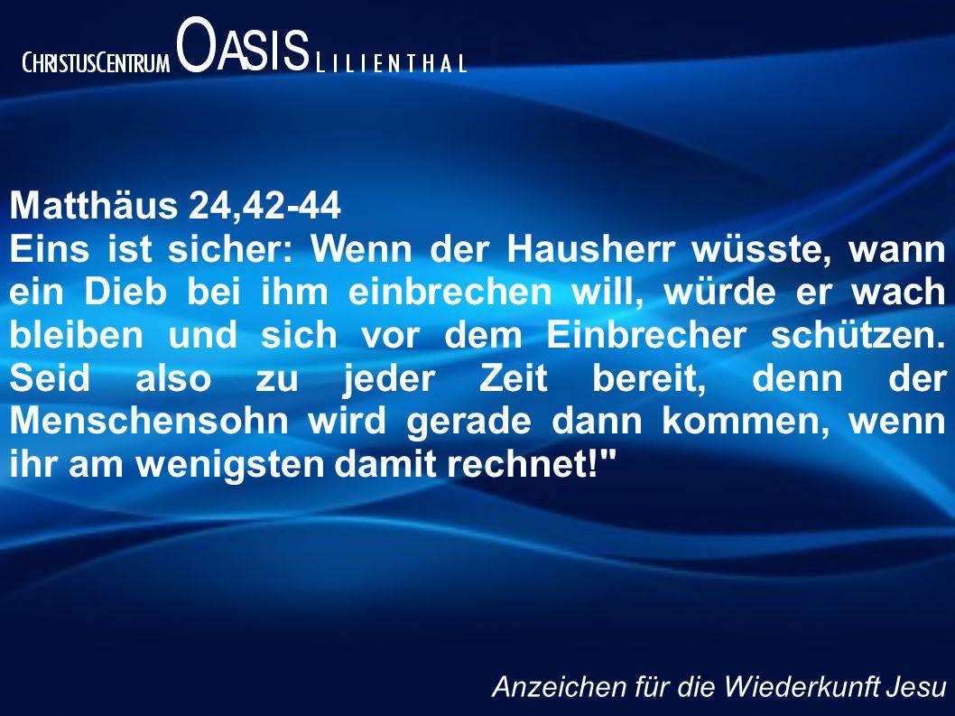 Matthäus 24,42-44