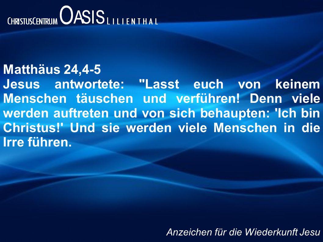 Matthäus 24,4-5