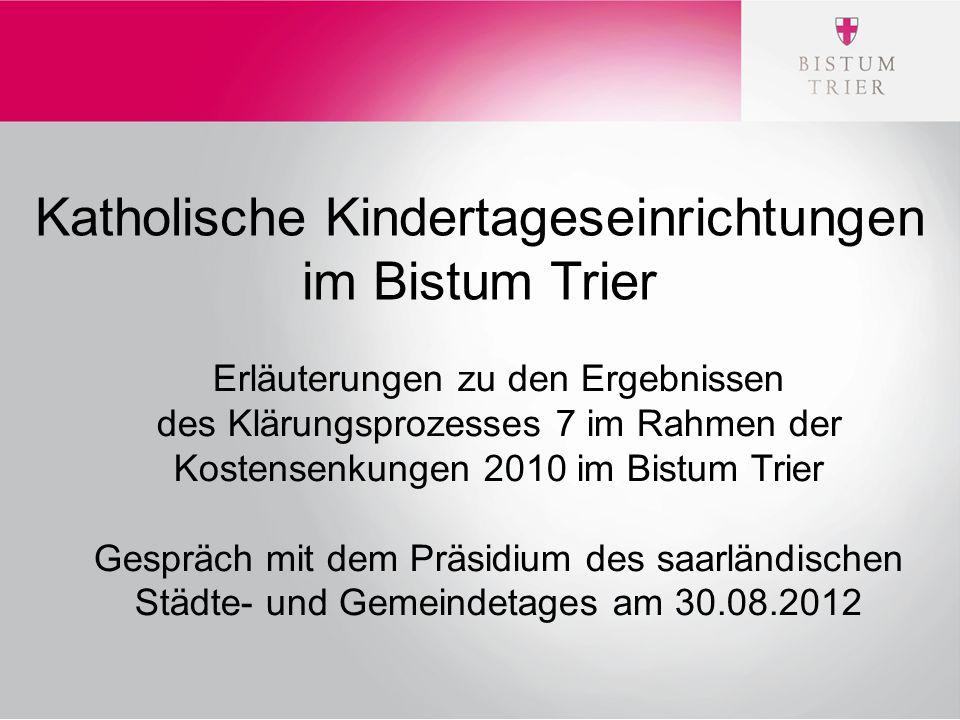 Katholische Kindertageseinrichtungen im Bistum Trier