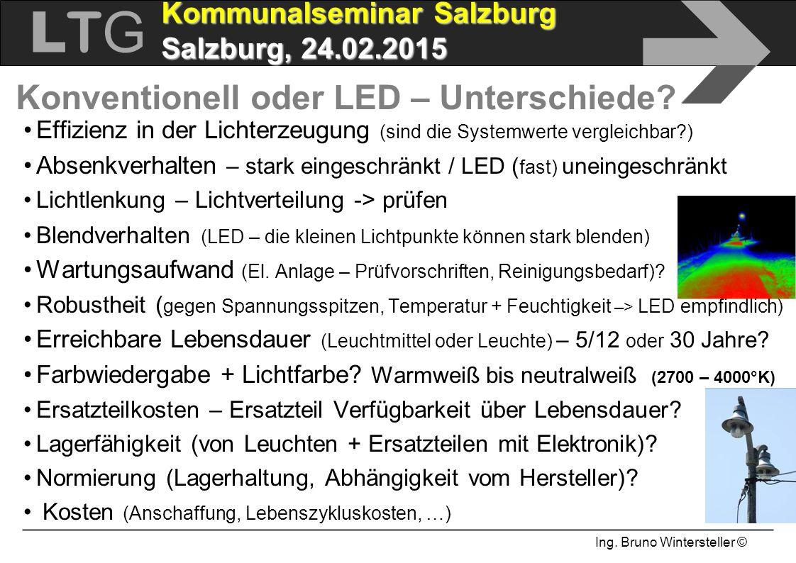 Konventionell oder LED – Unterschiede