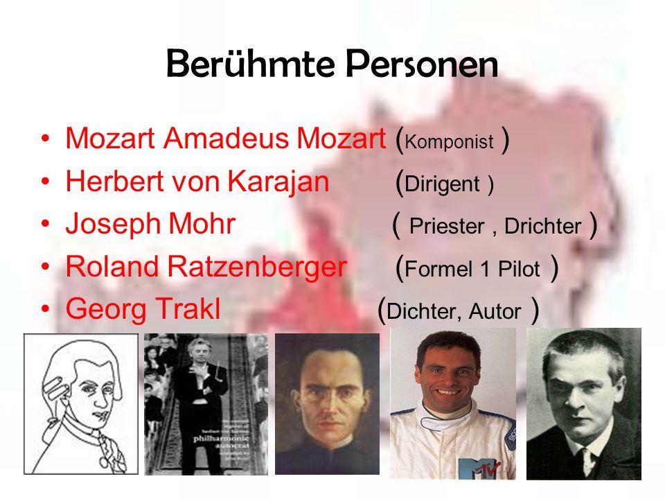 Berühmte Personen Mozart Amadeus Mozart (Komponist )