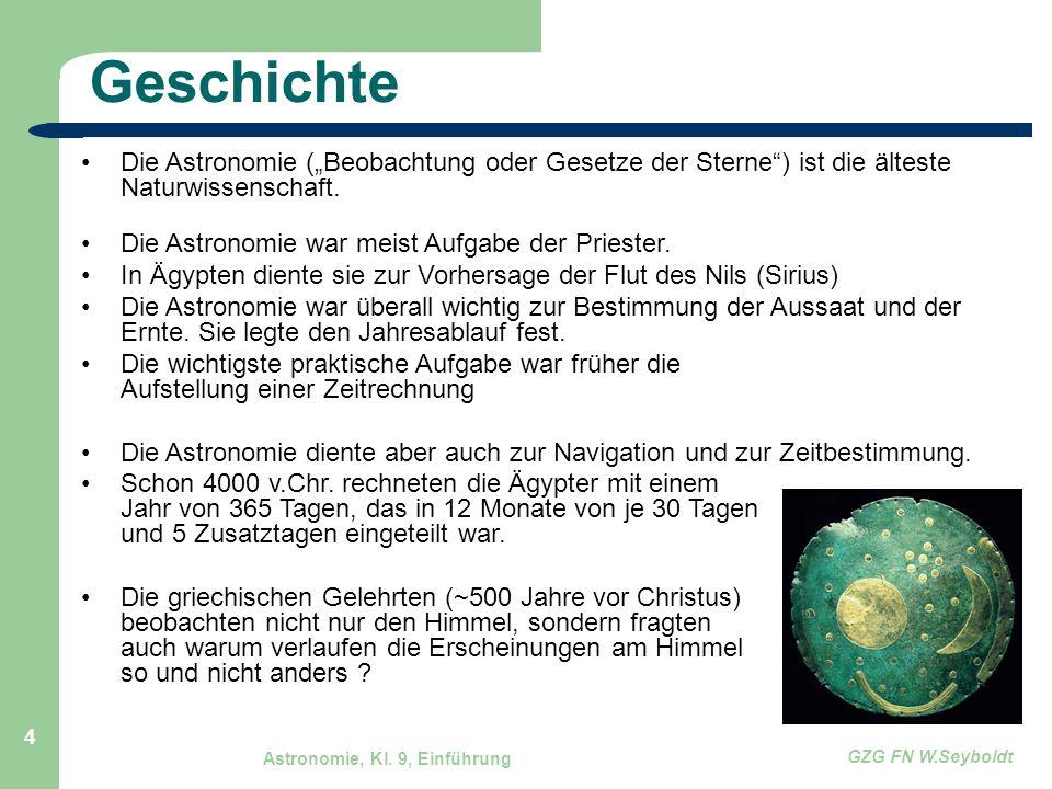 """Geschichte Die Astronomie (""""Beobachtung oder Gesetze der Sterne ) ist die älteste Naturwissenschaft."""
