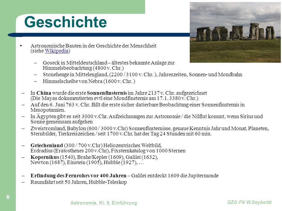 Geschichte Astronomische Bauten in der Geschichte der Menschheit (siehe Wikipedia)