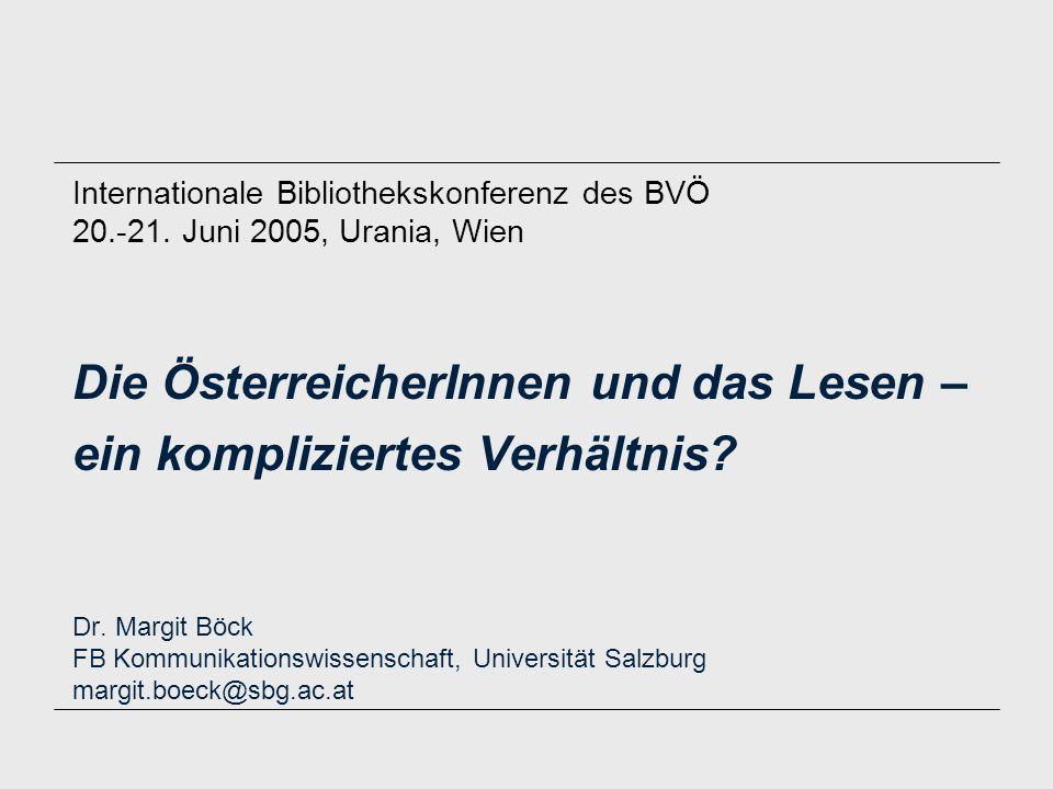Die ÖsterreicherInnen und das Lesen – ein kompliziertes Verhältnis