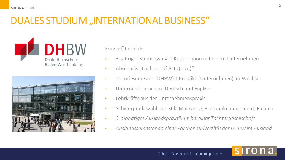 "Duales Studium ""International Business"