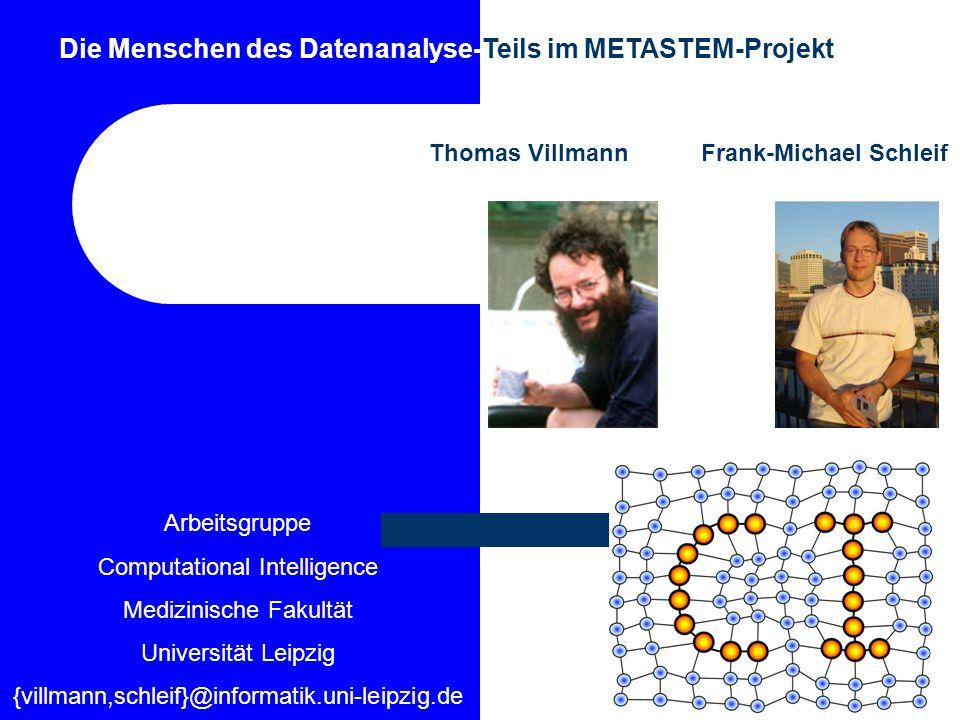 Die Menschen des Datenanalyse-Teils im METASTEM-Projekt