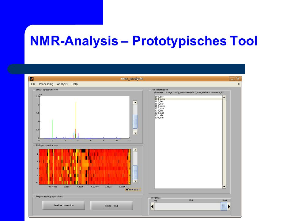NMR-Analysis – Prototypisches Tool