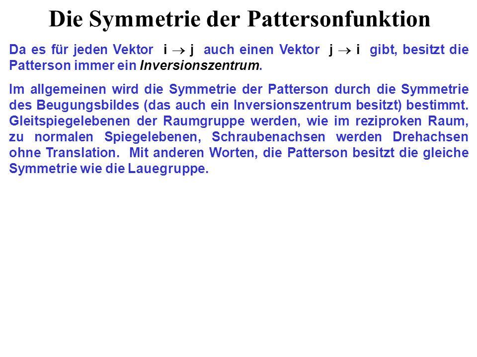 Die Symmetrie der Pattersonfunktion